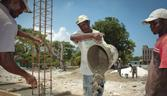 Construction workers in Haiti
